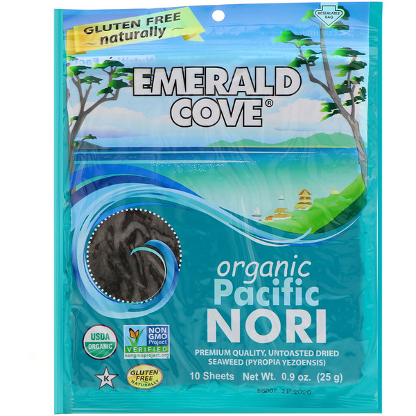 Great Eastern Sun, Emerald Cove, Organic Pacific Nori, 10 Sheets, 0.9 oz (25 g) (Discontinued Item)