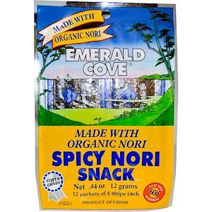 Грэйт Истерн Сан, Emerald Cove, Spicy Nori Snack, 12 Packets of 4 Strips Each, 0.44 oz (12 g) отзывы
