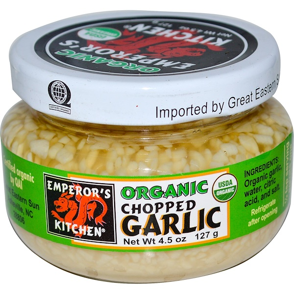 Great Eastern Sun, Organic Chopped Garlic, 4.5 oz (127 g) (Discontinued Item)