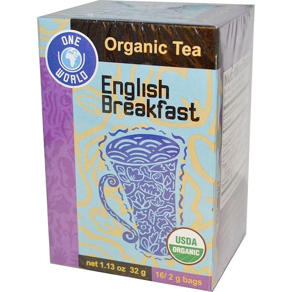 Great Eastern Sun, One World, Organic English Breakfast Tea, 16 Tea Bags, 2 g Each (Discontinued Item)