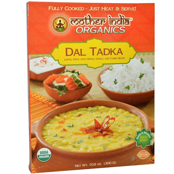 Great Eastern Sun, Mother India Organics, Dal Tadka, Mild Spicy, 10.6 oz (300 g) (Discontinued Item)