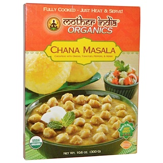 Great Eastern Sun, Mother India Organics, Chana Masala, Hot Spicy, 10.6 oz (300 g)