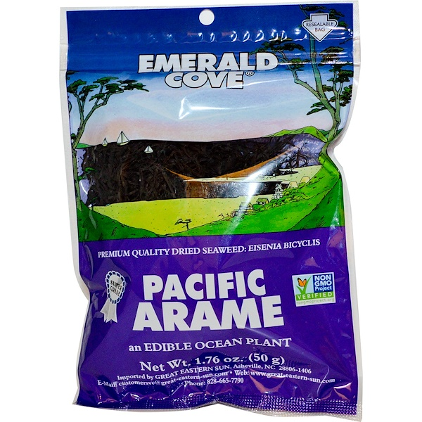 Great Eastern Sun, Emerald Cove, Pacific Arame,  1.76 oz (50 g) (Discontinued Item)