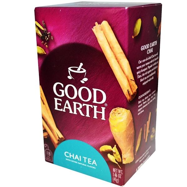 Good Earth Teas, Chai Tea, 18 Tea Bags, 1.46 oz (41 g) (Discontinued Item)