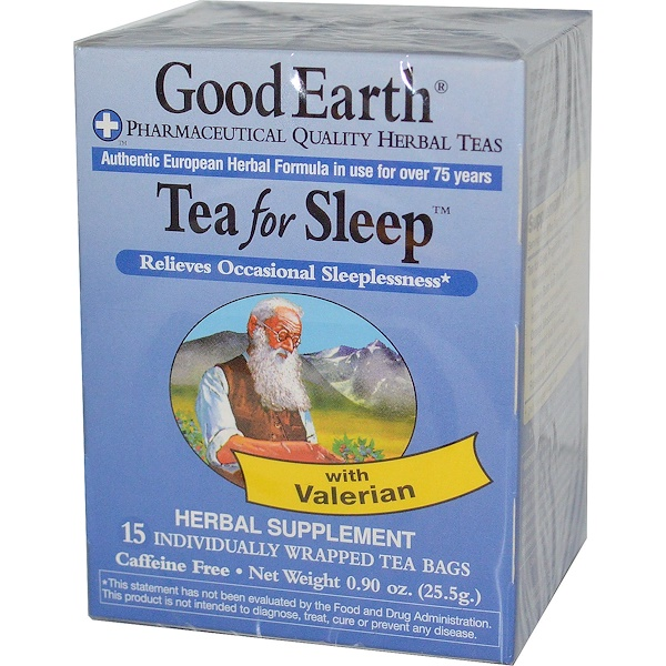 Good Earth Teas, Tea For Sleep, Caffeine Free, 15 Tea Bags, 0.90 oz (25.5 g) (Discontinued Item)