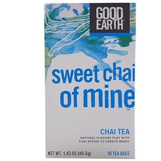 Good Earth Teas, Sweet Chai of Mine, Chai Tea, 18 Tea Bags, 1.43 oz (40.5 g)