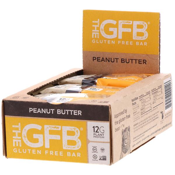 The GFB, قضيب خالٍ من الجلوتين، زبدة الفول السوداني، 12 قطعة، 2.05 أونصة (58 جم)