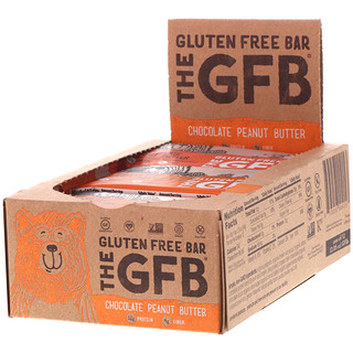 The GFB, Gluten Free Bar, Chocolate Peanut Butter, 12 Bars, 2.05 oz (58 g) Each