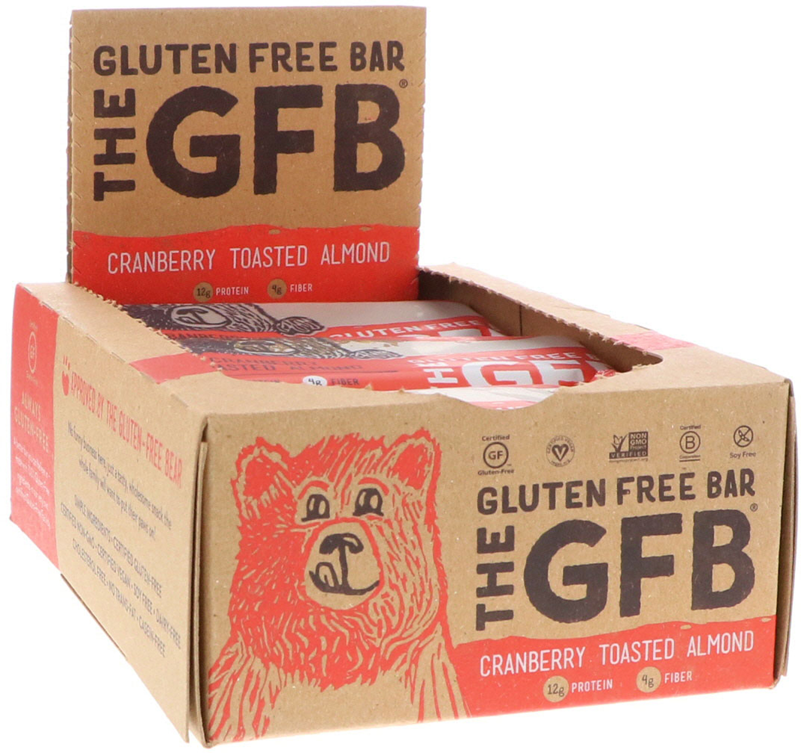 Gluten Free Energy Bar – Cranberry Toasted Almond (12 Bars)