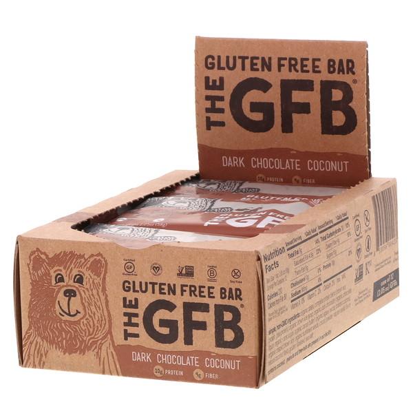 The GFB, Gluten Free Bar, Dark Chocolate Coconut, 12 Bars, 2.05 oz (58 g) Each