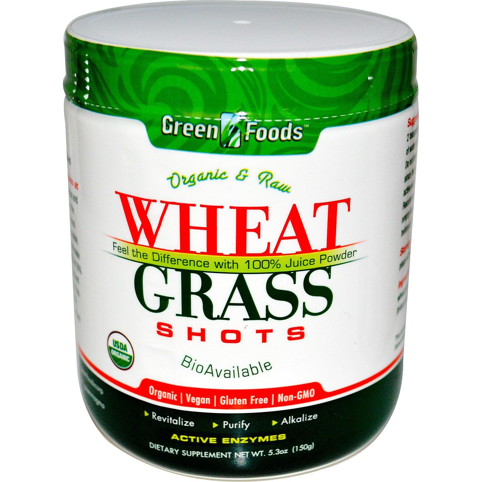 Green Foods Corporation Organic Raw Wheat Grass Shots 53 Oz Supergreen Food 150 Tablets Sgf G