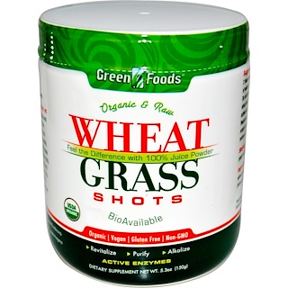 Green Foods Corporation, Organic & Raw Wheat Grass Shots, 5.3 oz (150 g)