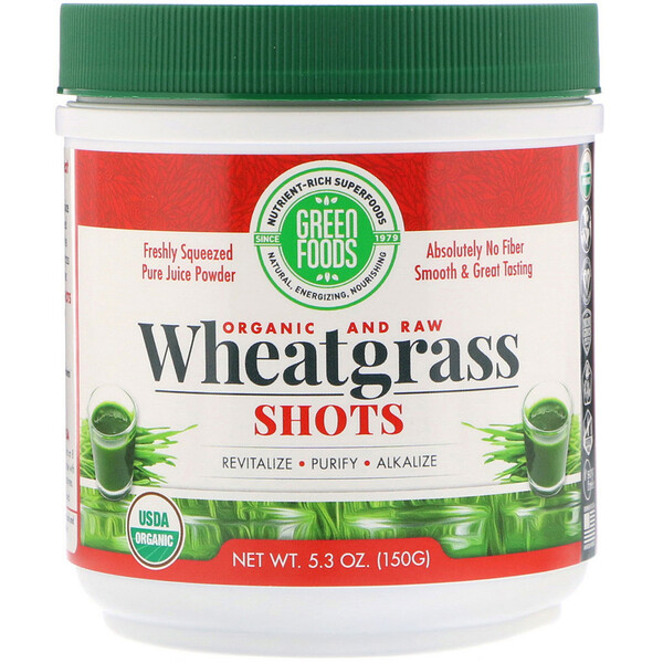 Green Foods , Organic & Raw, Shots de Pasto de Trigo, 5.3 oz (150 g)