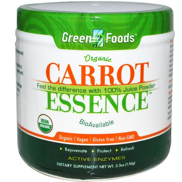 Green Foods, Carrot Essence, 5.3 oz (150 g) (Discontinued Item)