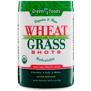 Green Foods Corporation, Organic & Raw, Wheat Grass Shots, 10.6 oz (300 g)