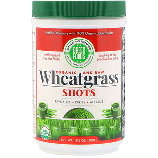 Green Foods Corporation, Organic & Raw, Wheatgrass Shots, 10.6 oz (300 g)