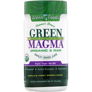 Грин Фудс Корпорэйшн, Green Magma, Barley Grass Juice, 2.8 oz (80 g) отзывы покупателей