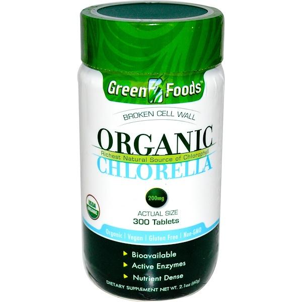 Green Foods Corporation, Органическая хлорелла, 200 мг, 300 таблеток (Discontinued Item)