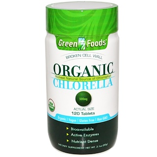 Green Foods Corporation, Organic Chlorella, 500 mg, 120 Tablets