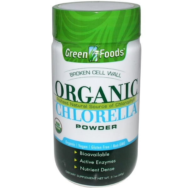 Green Foods Corporation, 有機小球藻粉,2、1盎司(60克)