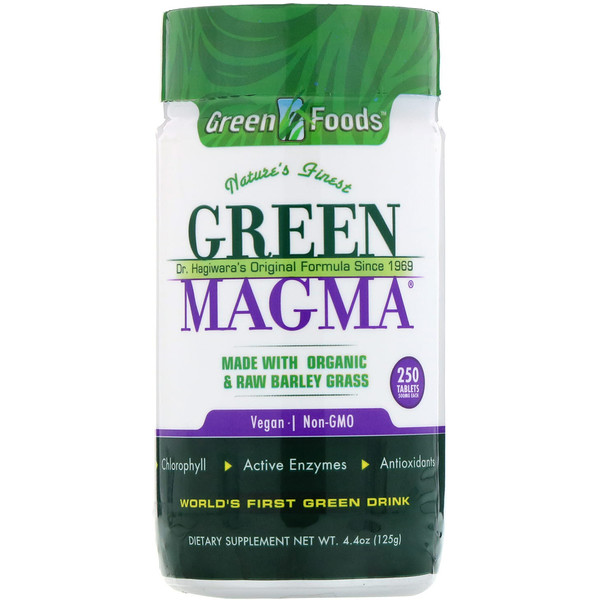 Green Foods , Magma verde,  500 mg, 250 tabletas