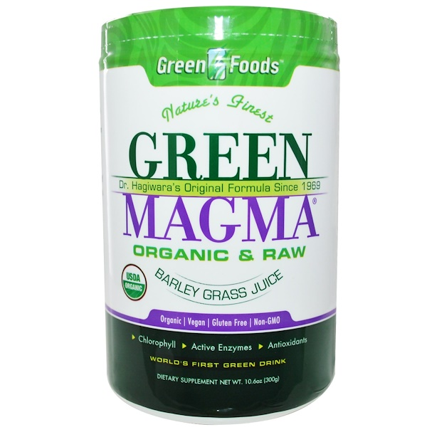 Green Foods Corporation, Green Magma, Jugo de Pasto de Cebada, 10.6 oz (300 g)