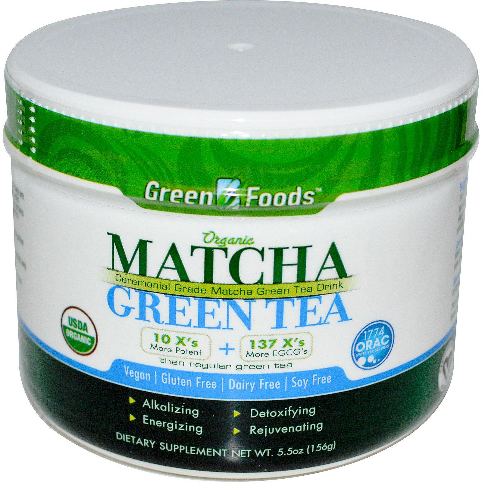 Green Foods Corporation, Органический зеленый чай маття, 5,5 унций (156 г)