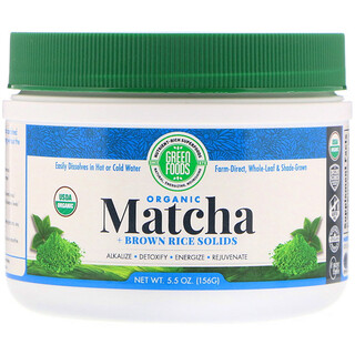 Green Foods Corporation, Organic Matcha + Brown Rice Solids, 5.5 oz (156 g)
