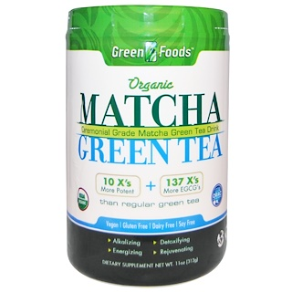 Green Foods Corporation, Organic Matcha Green Tea, 11 oz (312 g)
