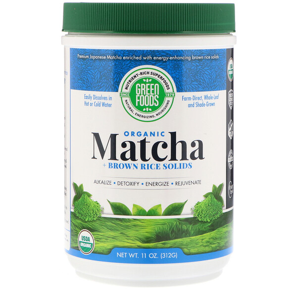 Green Foods Corporation, Ceremonial Grade Matcha Green Tea Energy Blend, 11 oz (312 g)
