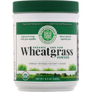 Green Foods Corporation, Органический и необработанный продукт, порошок витграсса, 240 г