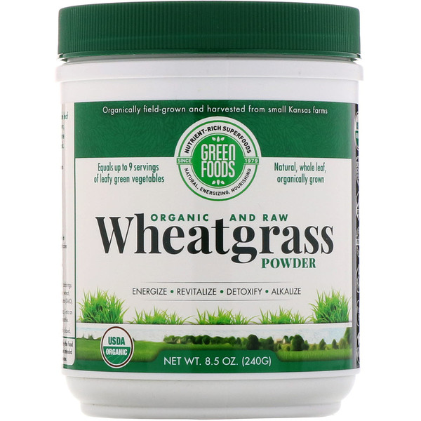 Green Foods Corporation, Organic and Raw, Wheatgrass Powder, 8.5 oz (240 g)