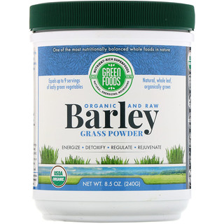 Green Foods Corporation, Organic and Raw, Barley Grass Powder, 8.5 oz (240 g)