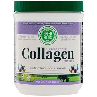 Green Foods Corporation, Hydrolyzed Collagen Powder, 7 oz (198 g)
