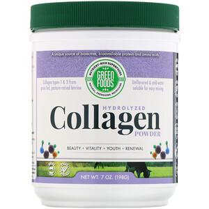 Грин Фудс Корпорэйшн, Hydrolyzed Collagen Powder, 7 oz (198 g) отзывы покупателей