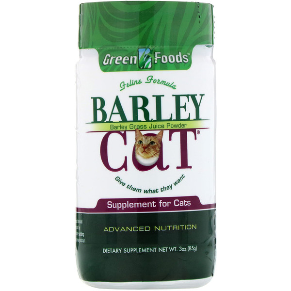 Green Foods , Barley Cat, 3 oz (85 g)