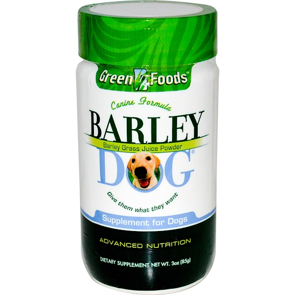 Green Foods, Barley Dog, 3 oz (85 g) (Discontinued Item)