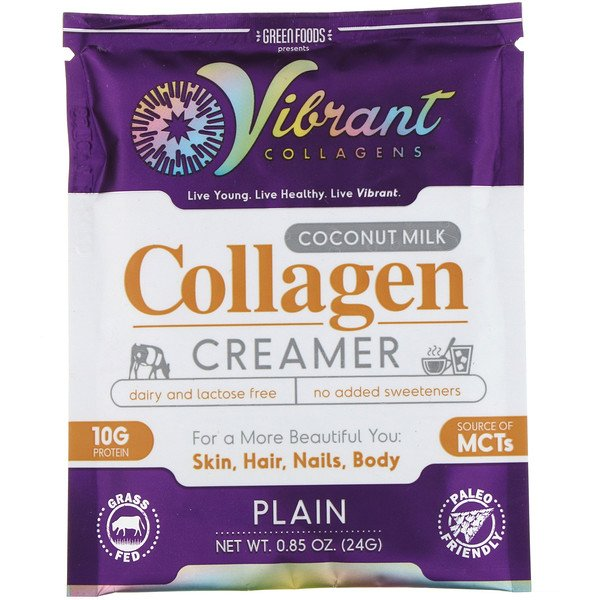 Green Foods, Collagènes vibrants, Crème de collagène au lait de coco, nature, 0,85 oz (24 g) (Discontinued Item)