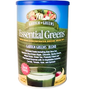 Гардэн Гринс, Essential Greens, Super ORAC Concentrated Greens Drink Mix, Apple & Banana Flavor, 17.5 oz (495 g) отзывы