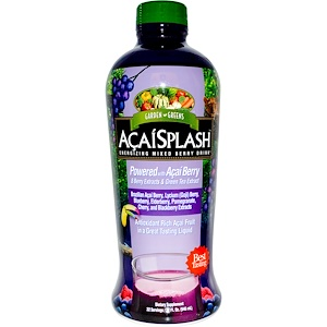 Гардэн Гринс, AcaiSplash, Energizing Mixed Berry Drink, 32 fl oz (946 ml) отзывы