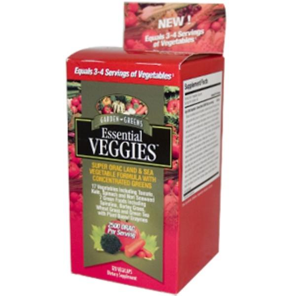 Garden Greens, Essential Veggies, 120 Veggie Caps (Discontinued Item)