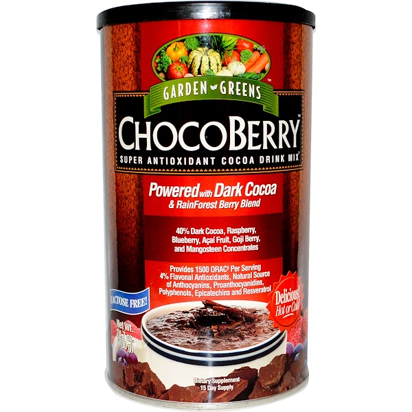 Garden Greens, ChocoBerry, Super Antioxidant Cocoa Drink Mix, 24.7 oz (700 g) (Discontinued Item)