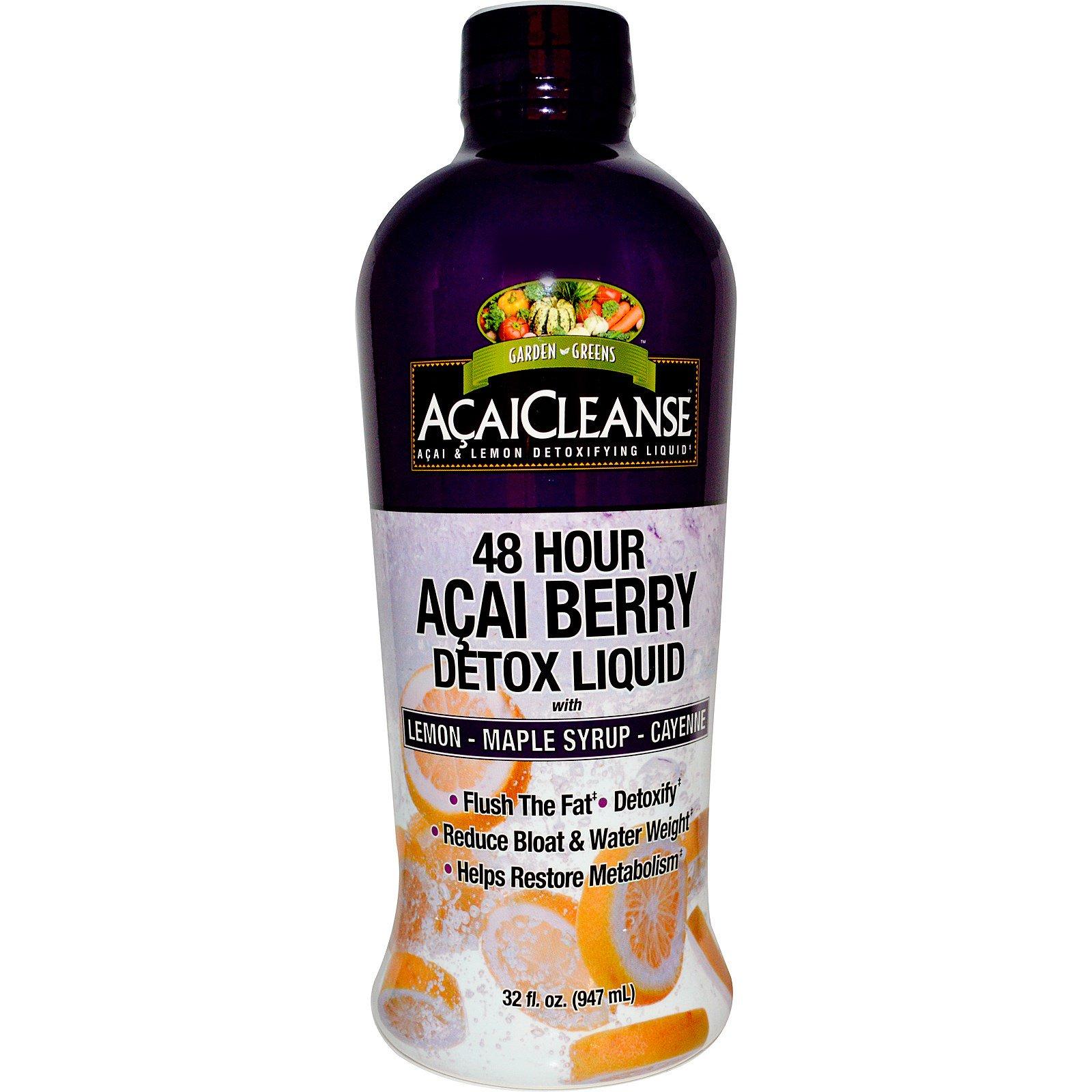 Garden Greens, AcaiCleanse, 48-часовая детокс-жидкость из ягод асаи, 947 мл