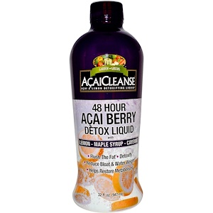 Гардэн Гринс, AcaiCleanse, 48 Hour Acai Berry Detox Liquid, 32 fl oz (947 ml) отзывы покупателей