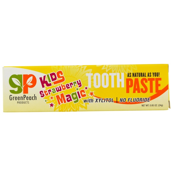 GreenPeach, Kids Strawberry Magic Toothpaste, 0.85 oz (24 g) (Discontinued Item)