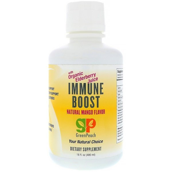 GreenPeach, Immune Boost, Natural Mango Flavor, 16 fl oz (480 ml) (Discontinued Item)