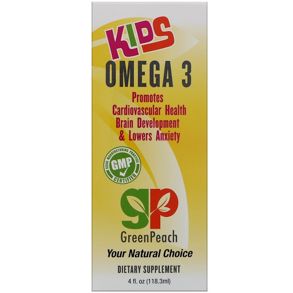 GreenPeach, キッズオメガ、3, 4 fl.oz (118.3 ml) (Discontinued Item)