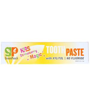 Грин Пич, Kids, Strawberry Magic Toothpaste, 4 oz (113 g) отзывы покупателей