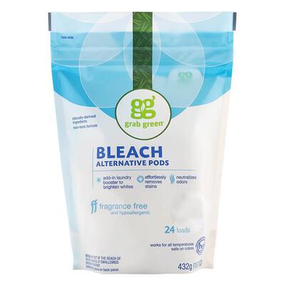 Купить Grab Green Альтернативные капсулы для отбеливания, без запаха, 24 стирки, 432 г (15, 2 унции)