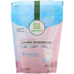 Grab Green, Lessive Linge Délicat, Sans Parfum, 24 Machines, 8,4 oz (240 g)